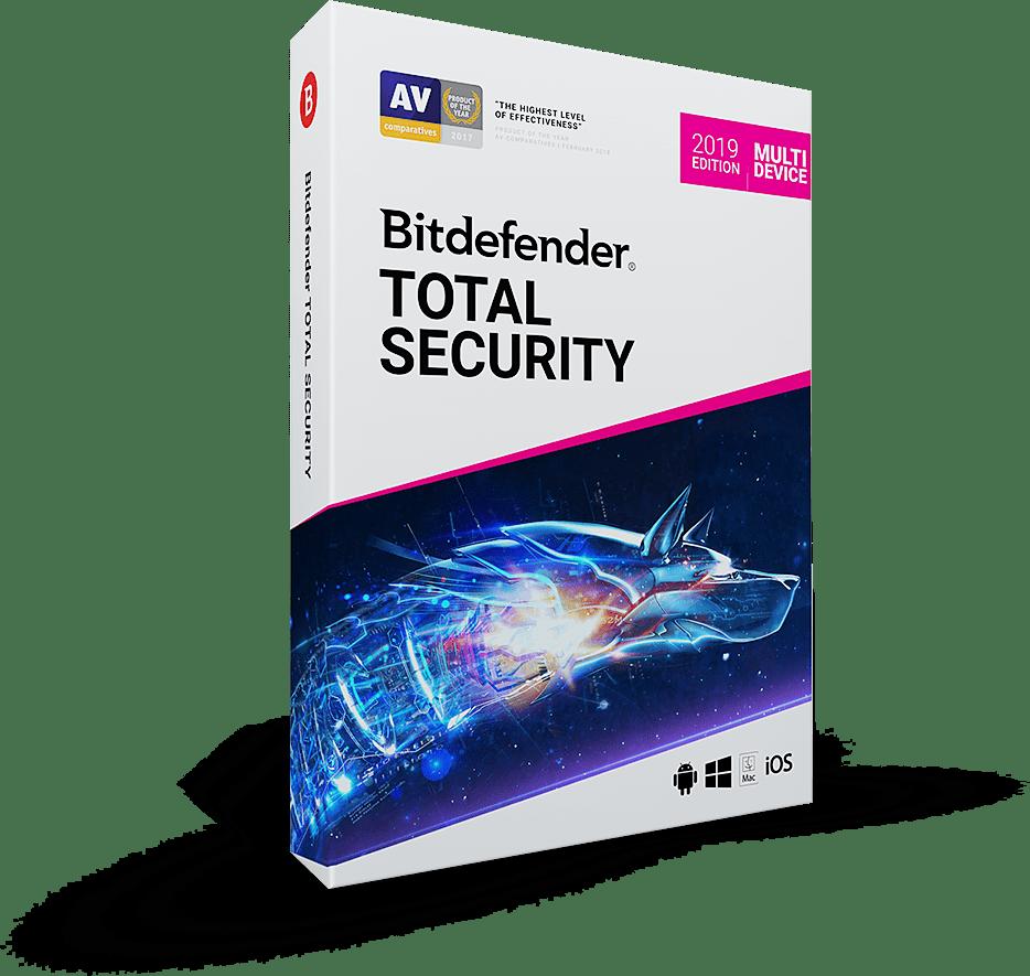 Bitdefender Total Security 2019 خرید لایسنس ۶ ماهه – ۳ دستگاه