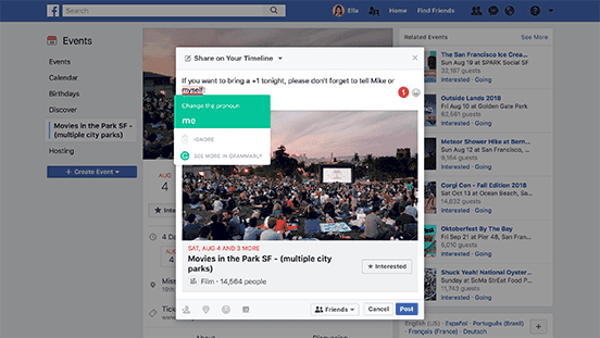 Browser Extension - Facebook