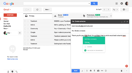 Browser Extension - Gmail