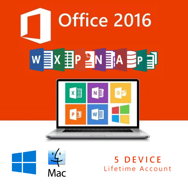 خرید لایسنس آفیس Office 2016 | Lifetime Account  5 Device
